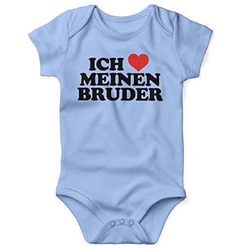 Mikalino Babybody mit Spruch für Jungen Mädchen Unisex Kurzarm Ich Liebe Meinen Bruder | handbedruckt in Deutschland | Handmade with Love, Grösse:74, ()