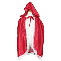 Fantast Costumes Little Girl's Red Hooded Cloak(Red, Onesize(M))