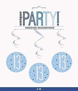 Unique Party- Adornos, Color blue & silver (83794)