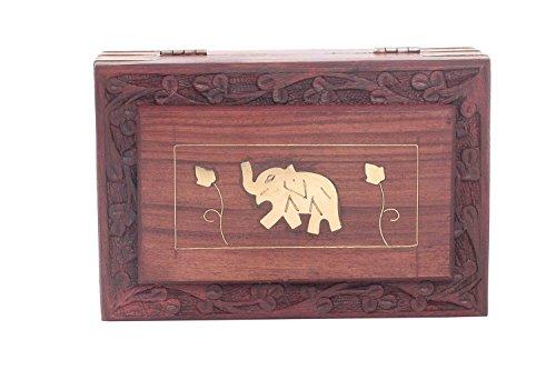 Joyero-Artesanal-Madera-Viento-Metal-embutido-nico-elefante-Diseo-6-x-4-pulgadas-regalo-para-la-Navidad-o-de-cumpleaos-de-sus-seres-queridos