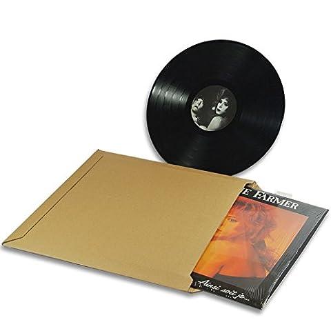Lot de 10 Enveloppes carton vinyle 33 tours format 350x350 mm