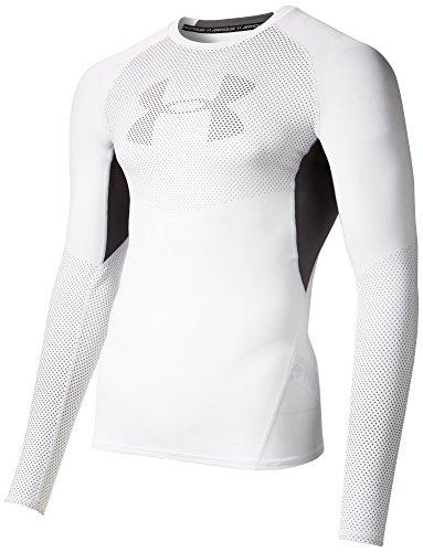 Under Armour Herren UA Heatgear Graphic Shirt XXXL Weiß / Graphitgrau