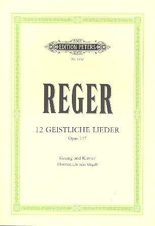 12 Geistliche Lieder Op 137. Gesang Mittel, Klavier
