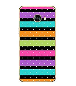Fuson Color Line Dots Pattern Designer Back Case Cover for Samsung Galaxy C7 SM-C7000 (Ethnic Pattern Patterns Floral Decorative Abstact Love Lovely Beauty)