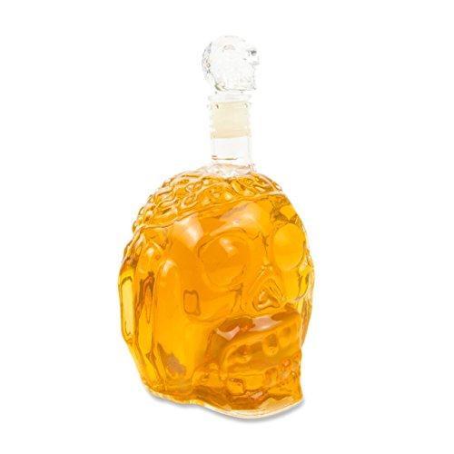 l) für die Hausbar, Party und als Geschenk zum befüllen mit Vodka, Whiskey geeignet, Hausbar, Party, Halloween, Kristall-Untoter, Wein- Dekanter, Schädel, Farbe: Transparent (Die Holloween)