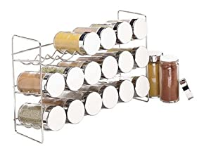 Polder 18-Jar Compact Spice Rack, Silver by Polder