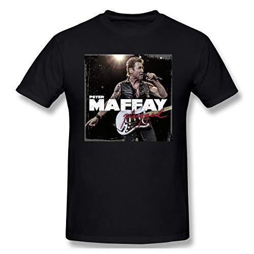 Edwardjack Herrens Peter Maffay 1 Cool Black T Shirt XL Mit Herren-Kurzarm