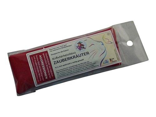 KRÄUTERHEXCHENS ZAUBERKRÄUTER - AGGRESSIONEN (rot), mit beruhigender & ausgleichender Wirkung. Ein homöopathischer Aroma-Stick mit Wellness-Kräutermischung zur spielerischen Anwendung bei Katzen