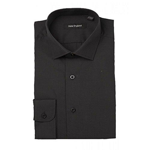 Peter England camicia nera, non occorre stirare Nero