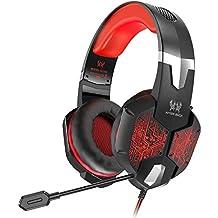 VersionTech profesional Stereo Gaming Headset con micrófono para Mac, PC y ordenador (incompatible con PS4, PS3, Xbox One XBOX 360)