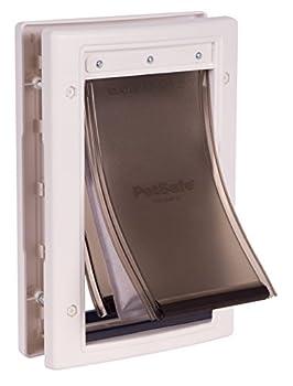 PetSafe - Porte pour Animaux pour Conditions climatiques extrêmes (S) - Chatière pour Chat et Petit Chien, Economie d'Energie, Très Isolante, Triple protection adpatée aux températures - S / M / L