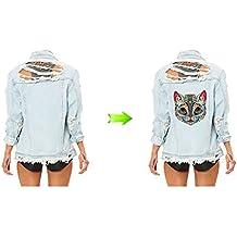 Pegatinas transfer gato sicodelico parche termoadhesivo para cazadoras, camisetas, sudaderas, camisetas, bolsos