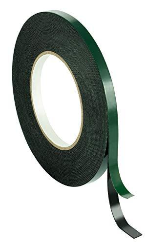 Poppstar 1x Doppelseitiges Schaumstoff-Klebeband, Montage-Band (10m x 9mm x 1mm), schwarz -