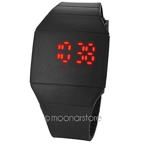 Reloj de pulsera con pantalla táctil LED, ultra fino, pantalla táctil LED roja, pantalla digital...