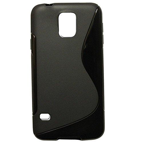 Premium Samsung Galaxy S4Schutzhülle schwarz Case Cover Silikon Gel S-Line Wave Design Schutzhülle für Samsung Galaxy S4Case Cover Line Wave Tpu Case