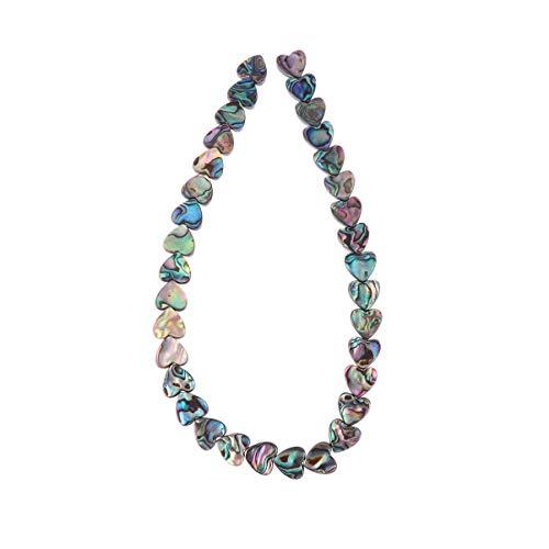 SUPVOX DIY Muschel Perlen Kette Halskette Herzform Perlen zum Nähen Handwerk Schmuck Machen Armband Halskette Schmuck Zubehör