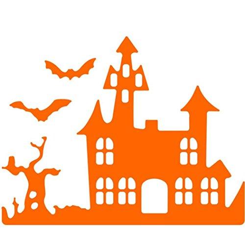 siconght Happy Halloween Metall Formen DIY Schablonen Haus Vorlage für Karte Scrapbooking Craft Prägung silberfarben