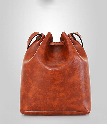 Dame Tasche Drei Packungen Retro Einfache Troddel Eimer Große Tasche Hand Schräg Einzelne Hand Tasche Nieten Multi