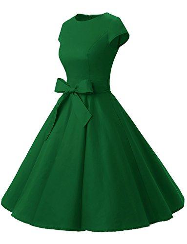 Dressystar Damen Rockabilly 50er Jahre Kleid Swing in Grün - 2