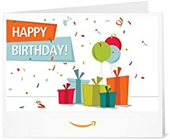 Happy Birthday (Presents) - Printable Amazon.co.uk Gift Voucher