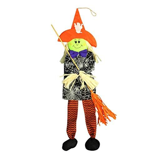 Upstudio Persönlichkeit Urlaub Hängende Verzierungen Hexe Besen Halloween Spukhaus Prop Dekor Haus Garten Hof Bar Dekorationen Party Supplies Party bevorzugt ()