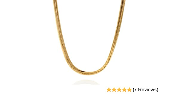 4mm 14K gold plated sterling silver 925 HERRINGBONE link chain necklace bracelet