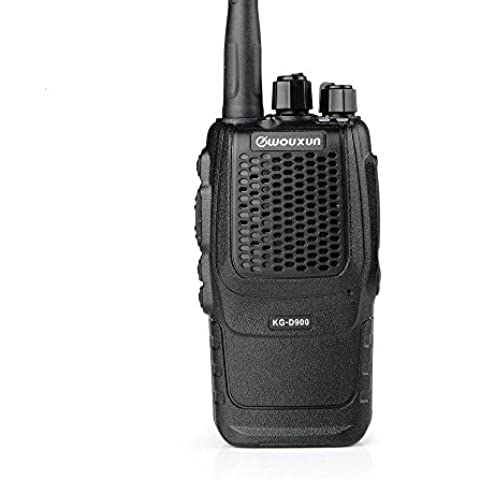 DMR Digital Jamón radio de dos vías WOUXUN KG-D900 UHF 400-470MHz 16 canales Vox 5W 2-5 millas 2000mAh Li-ion Cb Walkie-Talkie Transceptor, Black