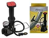 Benson Profi Mini Fußpumpe Fahrradpumpe Bar Anzeige 3 Adapter mit