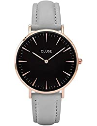 Cluse Damen-Armbanduhr Analog Quarz Leder CL18018