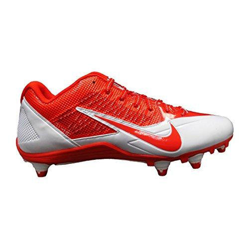 Nike , Herren American Football Schuhe weiß/orange - Männer Cleats Weiße