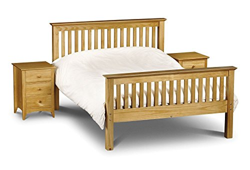 Barcelona Pine, High Foot End, 5ft King Size, Contemporary Solid Quality Pine Wood Bed Frame