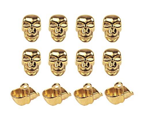 Botones de metal con forma de calavera para manualidades y...
