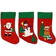HAAC Bota-calcetín Botas calcetín de Navidad con Papá Noel, muñeco de nieve o