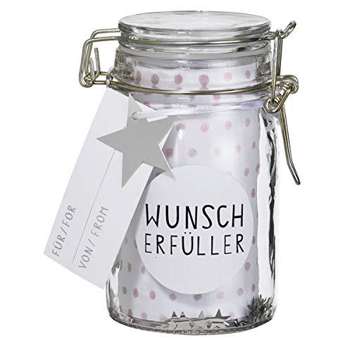Räder Herzstücke Geschenkglas Wunscherfüller