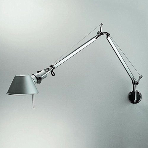 FHK,Luces de pared moderna minimalista dormitorio de noche de la moda europea estudio creativo lámpara de pared de las luces del espejo LED brazo largo Apliques decorativos de pared