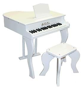 Schoenhut 37 Key Elite Baby Grand Piano (White)