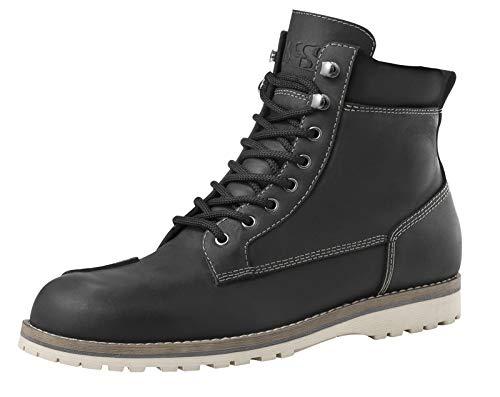 IXS Tabor, stivali da moto da uomo, in pelle, colore nero