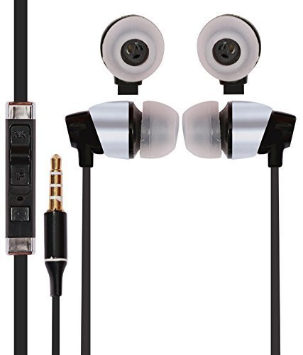 NEW RICH WALKER STYLISH CLASSY 100% Compatible Best Wired Earphones Headphones In Ear Earbuds V4.1 Stereo Noise Isolating Sports Sweatproof Headset with Built-in Microphone Hand-free Calling Music Lightweight Stereo Headset iOS/Android Premium Bass Sound - BLACK for Microsoft Surface BLACK (With ALL SMARTPHONE MODELS)  available at amazon for Rs.299