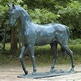 Gartentraum Große Bronze Statue mit Pferd - Don Camero, Bronze