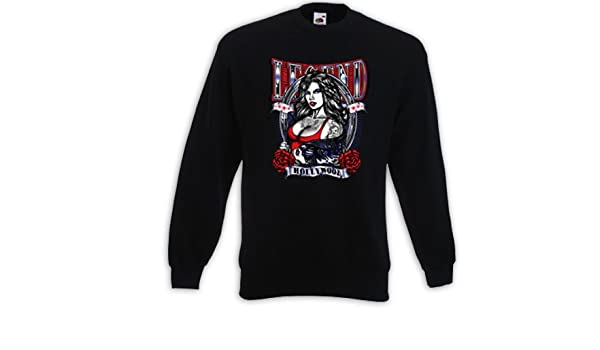 Fruit of the Loom Mexican Tank Top Camiseta Muscular Tattoo Girl Rose Skull Rockabilly Biker