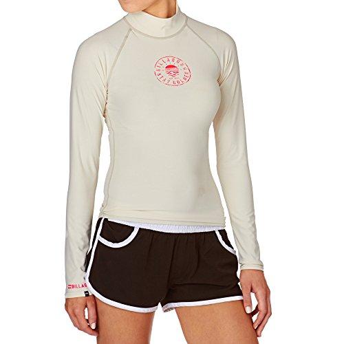 2016 Billabong Ladies Logo In Long Sleeve Rash Vest White Cap W4gy02 Picture