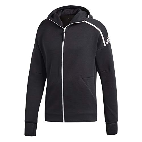 adidas Herren Hoodie ZNE Fast Release, Zne Heather/Black, 2XL, DM5543