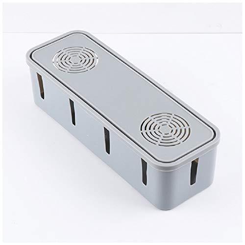 YOSPOSS Kabel-Aufbewahrungsbox KZ5327-W976 Steckdosen-Aufbewahrungsboxen, rechteckig, Multi-Netzsteckdose, Staubschutz-Organizer, Gehäuse mit Hitze-Entriegelungsloch, 5 Stück -