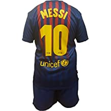 38fe41628efc3 Conjunto Equipacion Camiseta PantalonesFutbol Barcelona Lionel Messi 10  Replica Autorizado 2018-2019 Niños (2