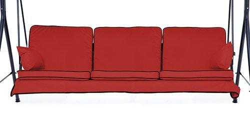 Rot komplett Ersatz Kissen Set für 3-Sitzer Schaukel Sitz Hängematten (Ersatz Hängematte)