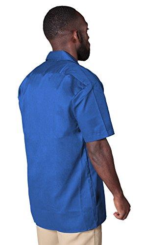 Dickies Herren Freizeithemd Work Shirt Short Sleeved Blau