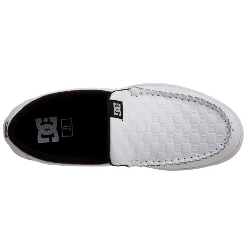 DC Villain Lowtop Chaussures Blanc / monogramme