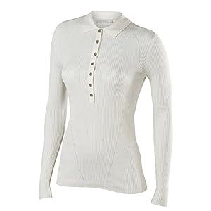 FALKE Damen Portofino Polo  Langarmshirt – Seide/Leinen, 1 Stück, Versch. Farben, Größe XS-XXL – Feuchtigkeitsregulierend, Schnellste Rücktrocknung.