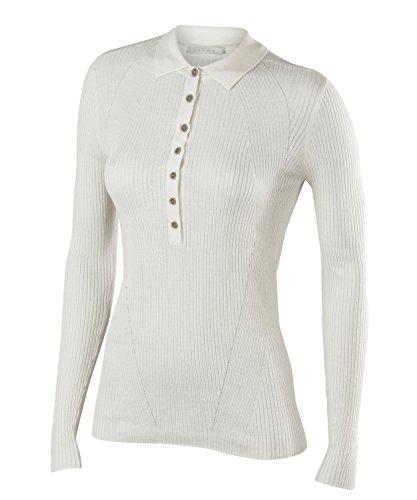 Falke–polo longsleeved women abbigliamento sportivo, donna, longsleeved polo women, bianco, 2xl