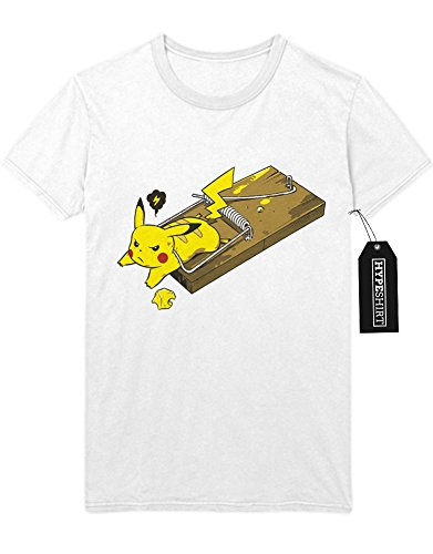 T-Shirt Pokemon Go Pikachu Mousetrap Team Rocket Jessie James Mauzi Kanto 1996 Blue Version Pokeball Catch 'Em All Hype X Y Nintendo Blue Red Yellow Plus Hype Nerd Game C210010 Weiß